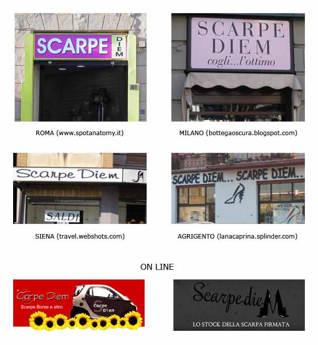 nomi negozi di scarpe
